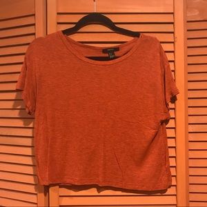 Forever 21 orange crop t shirt
